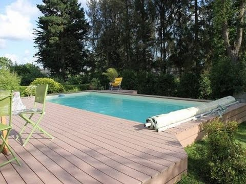 Wpc Decking Coping Around An Above Ground Pool Youtube