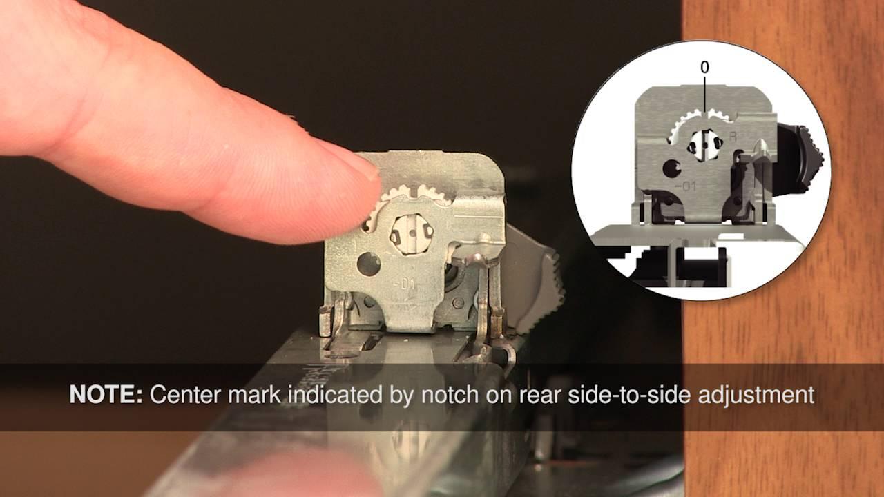 How To Adjust Blum Blumotion Drawer Slides