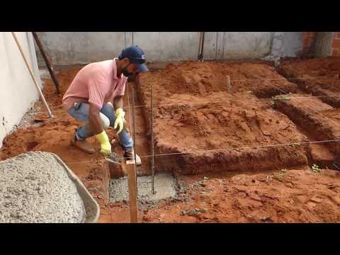 ac556e4d4 como fazer a sapata de uma construção passo a passo - YouTube