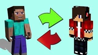 Como Trocar Skin no Minecraft - Shiginima Launcher 2017