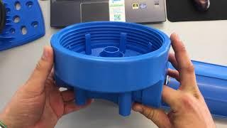 Aquafilter FH20B1-B-WB магістральний фільтр для води стандарту Big Blue 20'' (BB20) з манометром.
