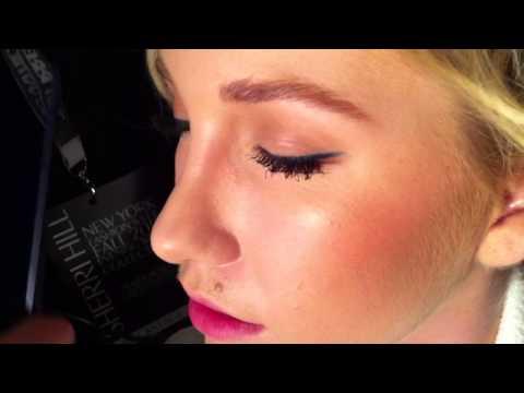 FASHION WEEK: Make Up on Savannah Chrisley at Sherri Hill F/W 2015