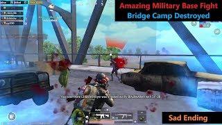 [Hindi] PUBG Mobile , Amazing Military Base Fight & Bridge Camp Destroyed Sad Ending