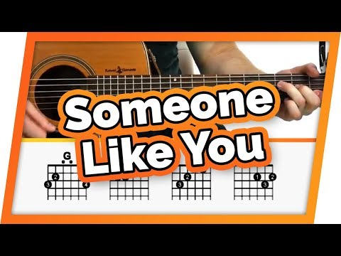 Someone Like You - Adele - Guitar Tutorial (Lesson) For Beginners // Easy Chords