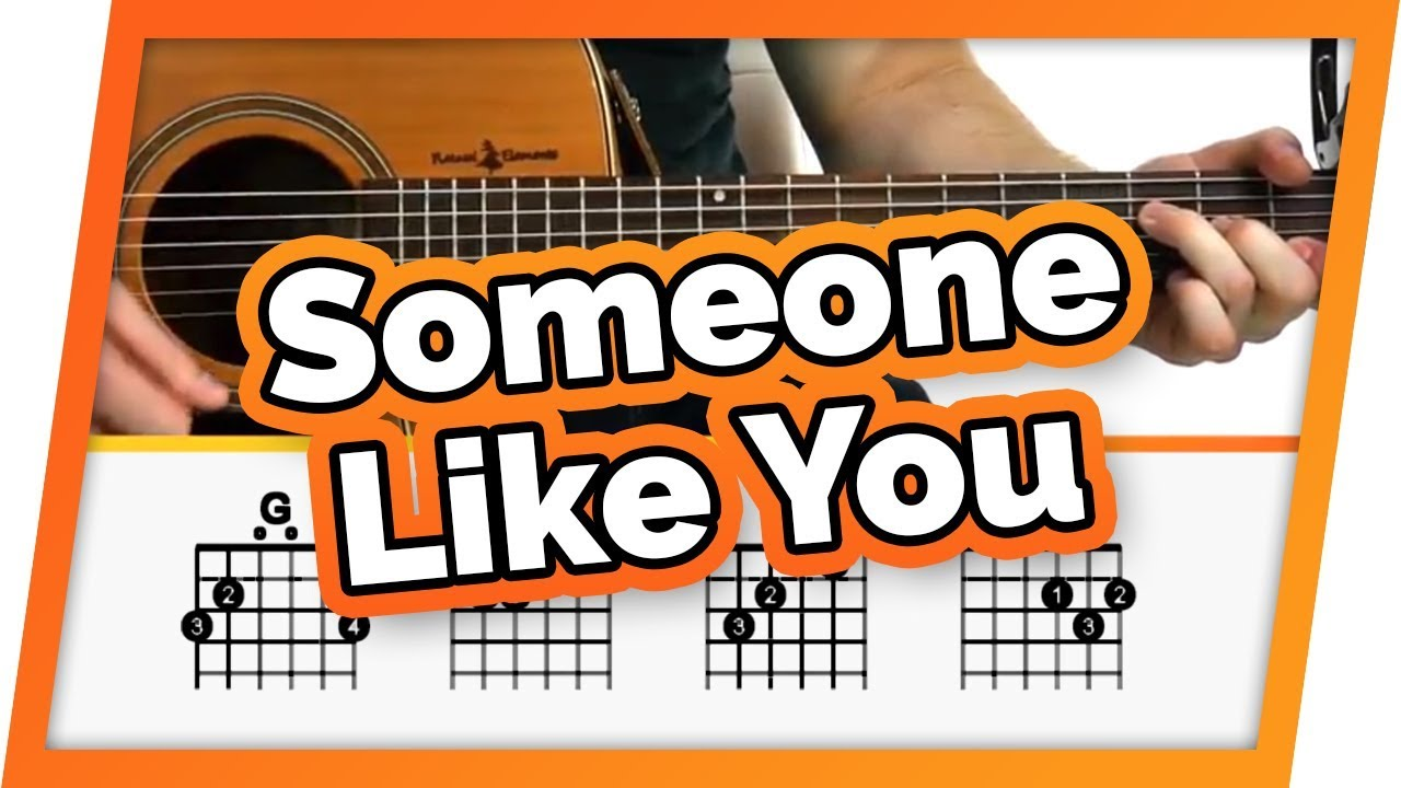 Someone Like You Adele Guitar Tutorial Lesson For Beginners