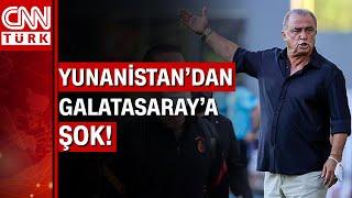 Olympiakos ile hazırlık maçı oynamak için Yunanistan'a giden Galatasaray'a şok tavır!