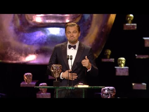 Leonardo DiCaprio wins Best Leading Actor award - The Britis