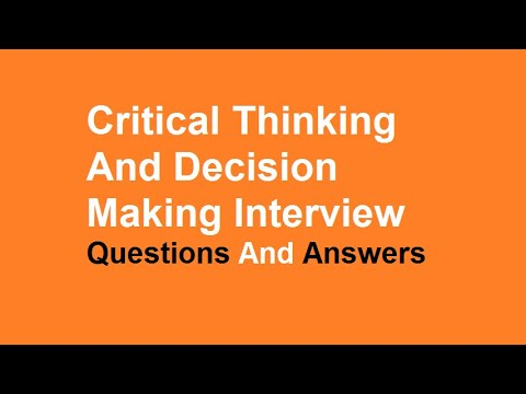 critical thinking interview questions