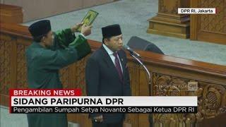 Pengambilan Sumpah Setya Novanto sebagai Ketua DPR