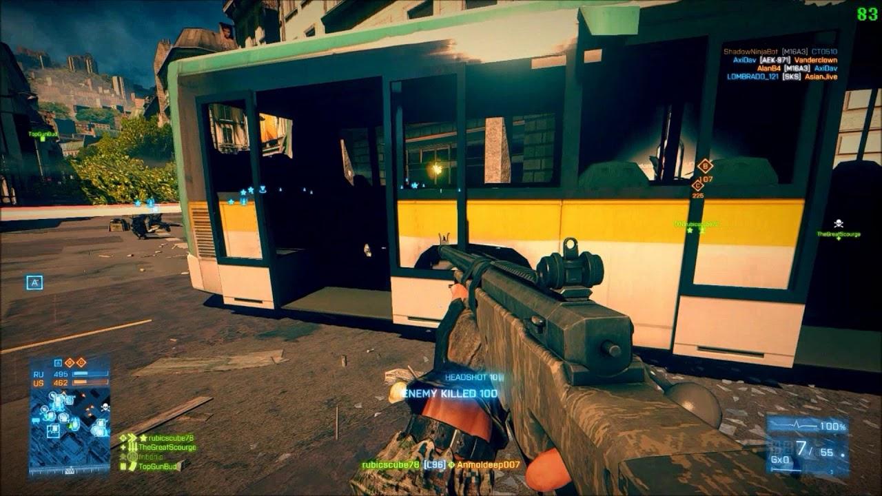 Stock L96 Highlights Battlefield 3 Xtremenoobs 24 7 Metro Youtube