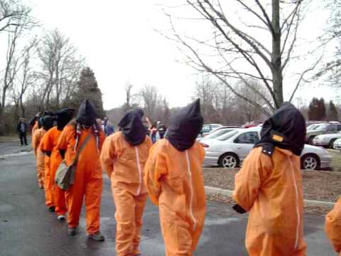 protest at CIA headquarters, langley, VA, January 16, 2010
