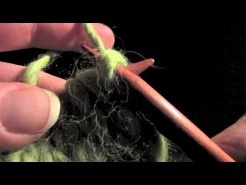 KNITFreedom - How To Slip A Stitch In Knitting - Sl 1 - Slipped St