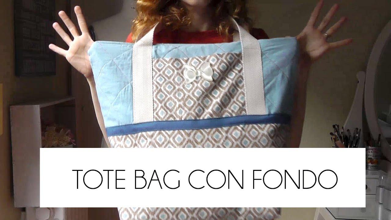 tutorial como hacer un tote bag con fondo patrones gratis youtube. Black Bedroom Furniture Sets. Home Design Ideas