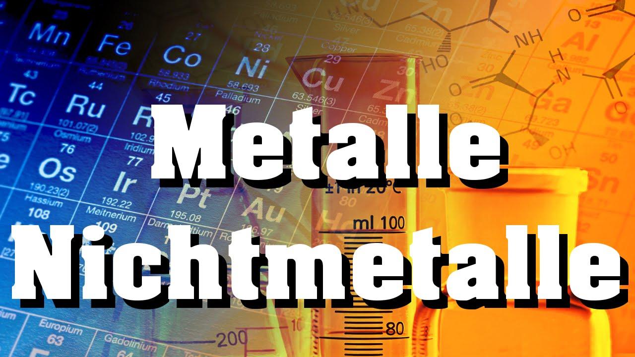 Metalle und Nichtmetalle - YouTube
