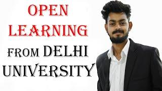 Open learning from Delhi University | SOL admission DU