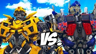 BUMBLEBEE vs OPTIMUS PRIME - Transformers Battle
