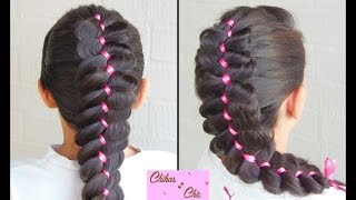 4 Strand Ribbon Braid! | Ribbon Braided Hairstyles | Cute Hairstyles