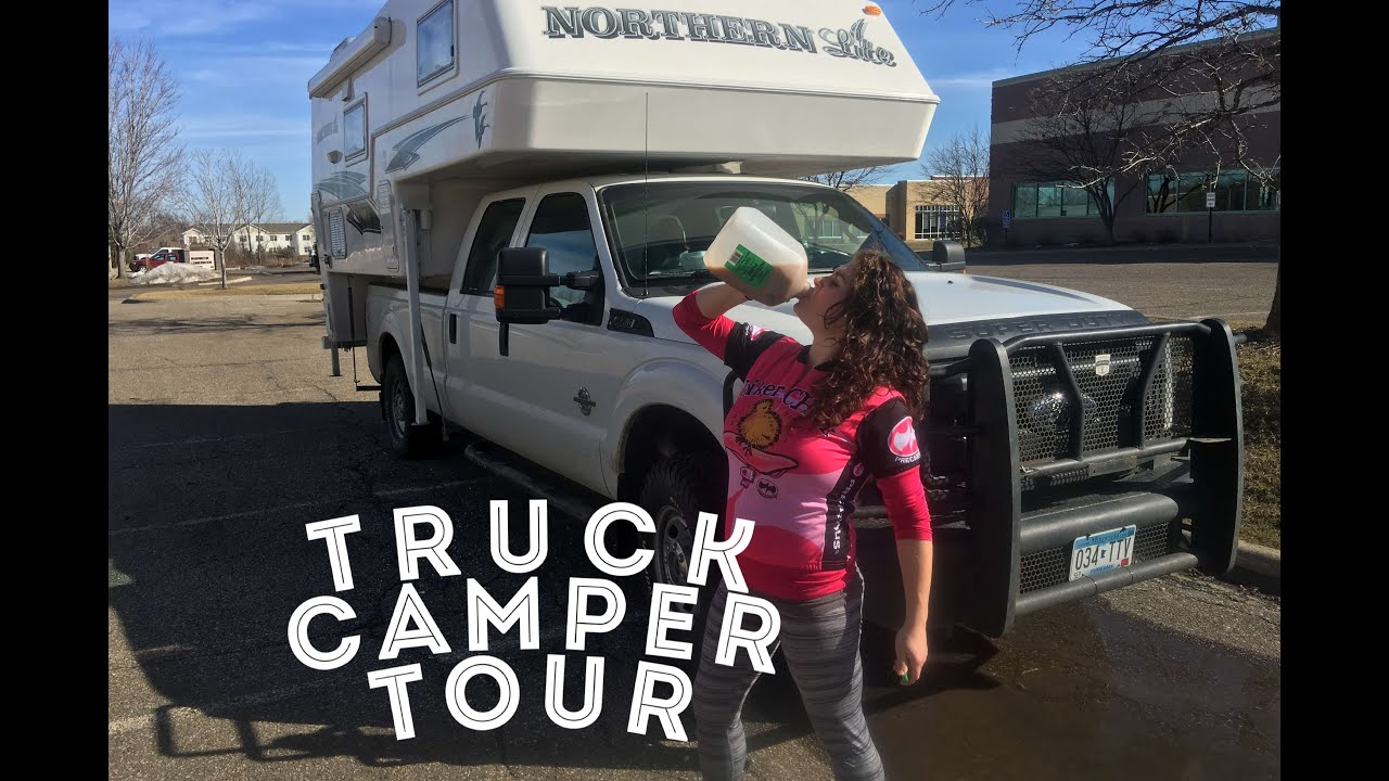 Tour Of Our 2016 Northern Lite 9 6 Truck Camper Youtube