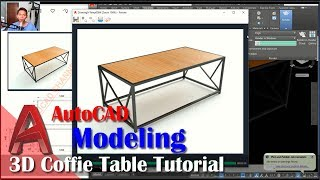 3d Coffie Table Tutorial With AutoCAD