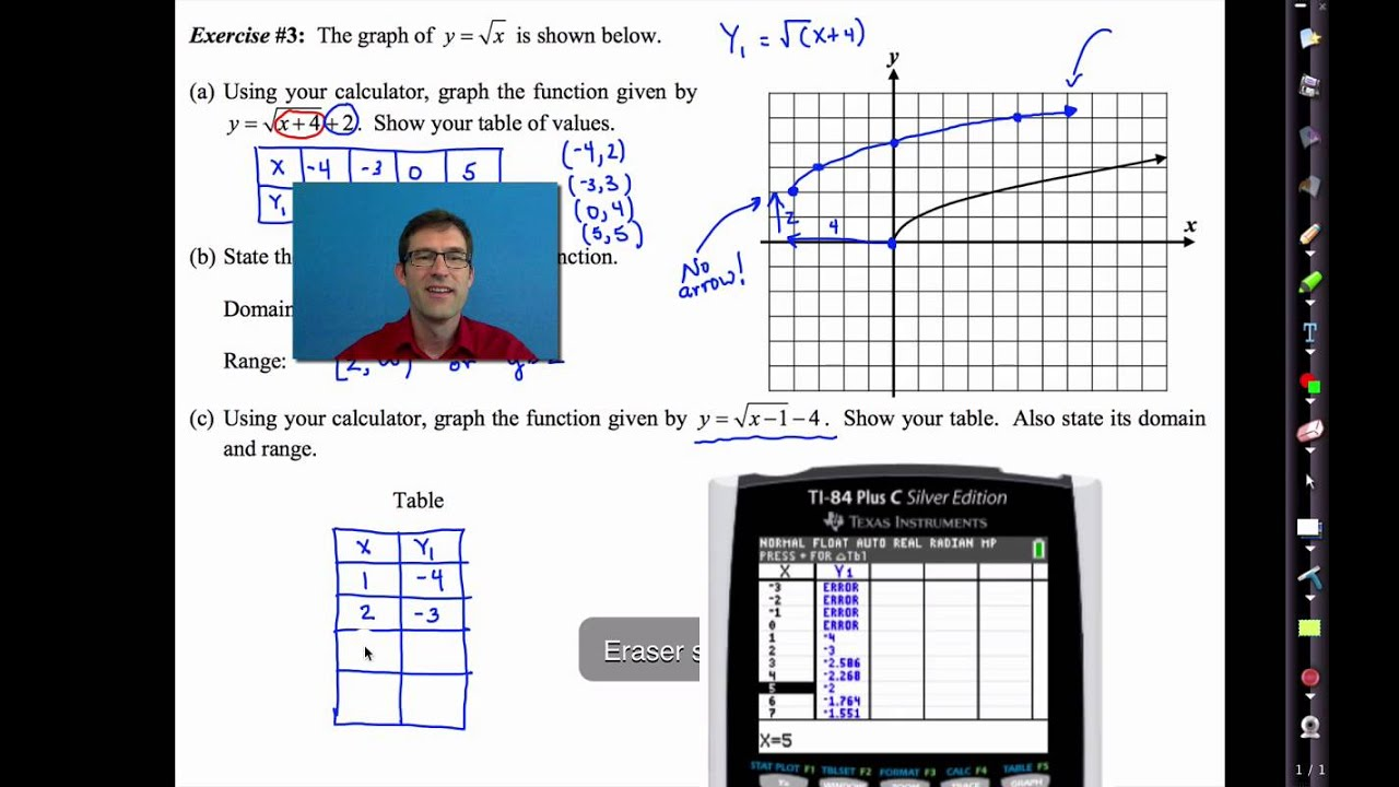Common Core Algebra IUnit 9Lesson 3Square Root Functions and – Common Core Algebra 1 Worksheets