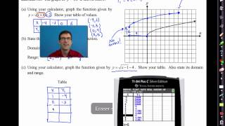Common Core Algebra I.unit #9.lesson #3.square Root Functions And Shifting