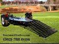 Single Rail Motorcycle Trailer #Motorcycle trailer #Towsmarttrailers