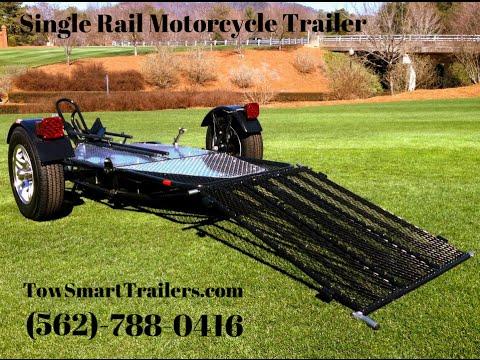 single-rail-motorcycle-trailer-#motorcycle-trailer-#towsmarttrailers