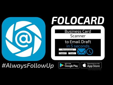 Folocard Follow Up Email Business Card Scanner