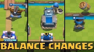 April 2016 Balance Changes: X-BOW, TOMBSTONE, MORTAR Update! | Clash Royale