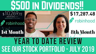 OUR STOCK PORTFOLIO UPDATE | Dividends and Profits - Year-to-Date Review (Ep. 8 - July 2019)