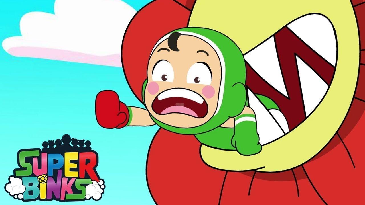 Flower Monster EATS Kwan! - Super Binks | WildBrain Cartoons