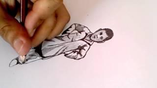Drawing boy - Desenhando um menino em lápis