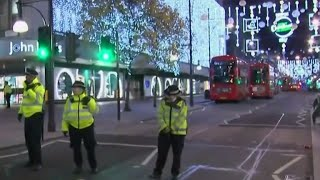 London police respond to reports of shots fired in busy area