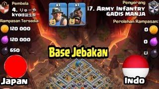 Taktik Darat Yang Mempesona Untuk Base JAPAN, WAR TH 12 COC INDONESIA