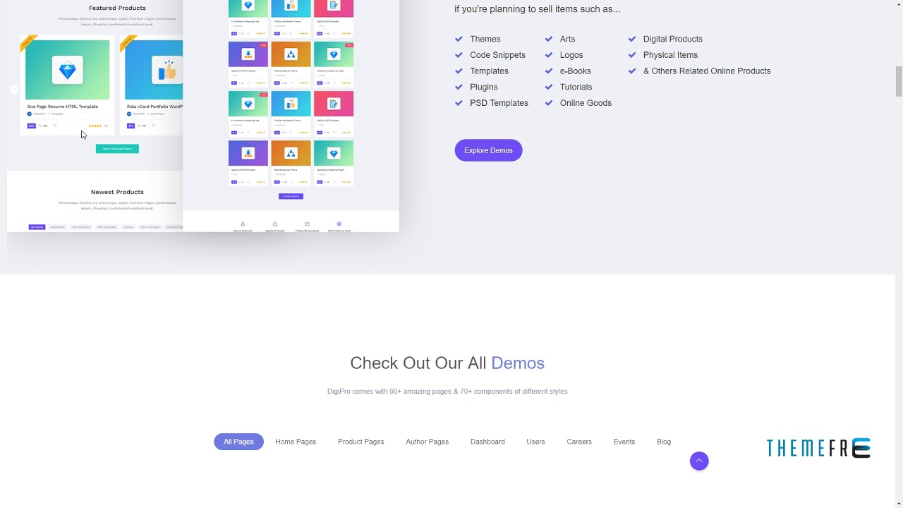 DigiPro - Digital Marketplace HTML Template with Dashboard Dar