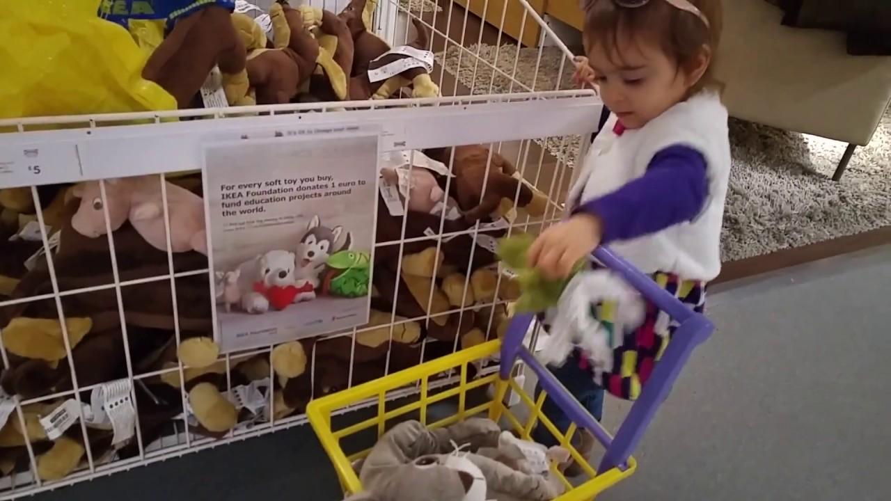 Kids Doing Shopping Ikea Supermarket Trolley Cart