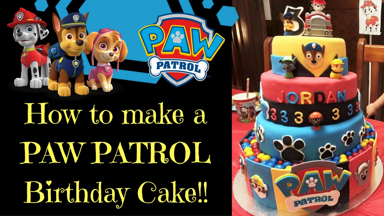 How To Make A Paw Patrol Birthday Cake