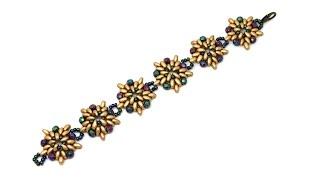 Как сделать браслет из бисера Твин DIY Bracelet from beads Twin, Superduo