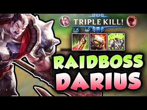 1v3?? NO PROBLEM! RAID BOSS DARIUS BROKEN SUSTAIN GOD! DARIUS TOP SEASON 7 - League of Legends