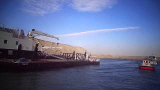 فيديو حصرى أضخم فندق عائم لعمال قناة السويس الجديدة