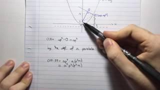 HSC Maths Ext1 - Parametrics - Geometric Proofs Example 1