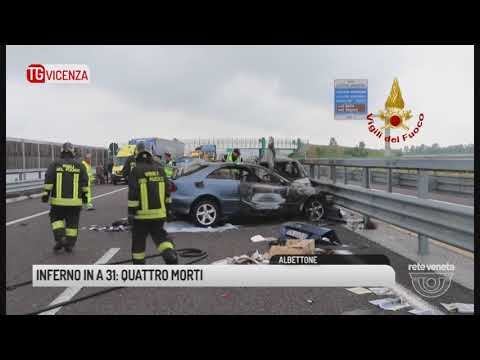 TG VICENZA (22/05/2018) - INFERNO IN A 31: QUATTRO MORTI