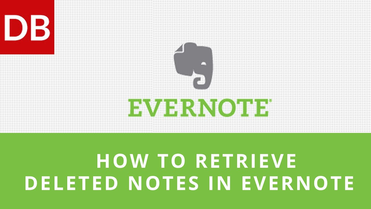How to Retrieve Deleted Notes in Evernote