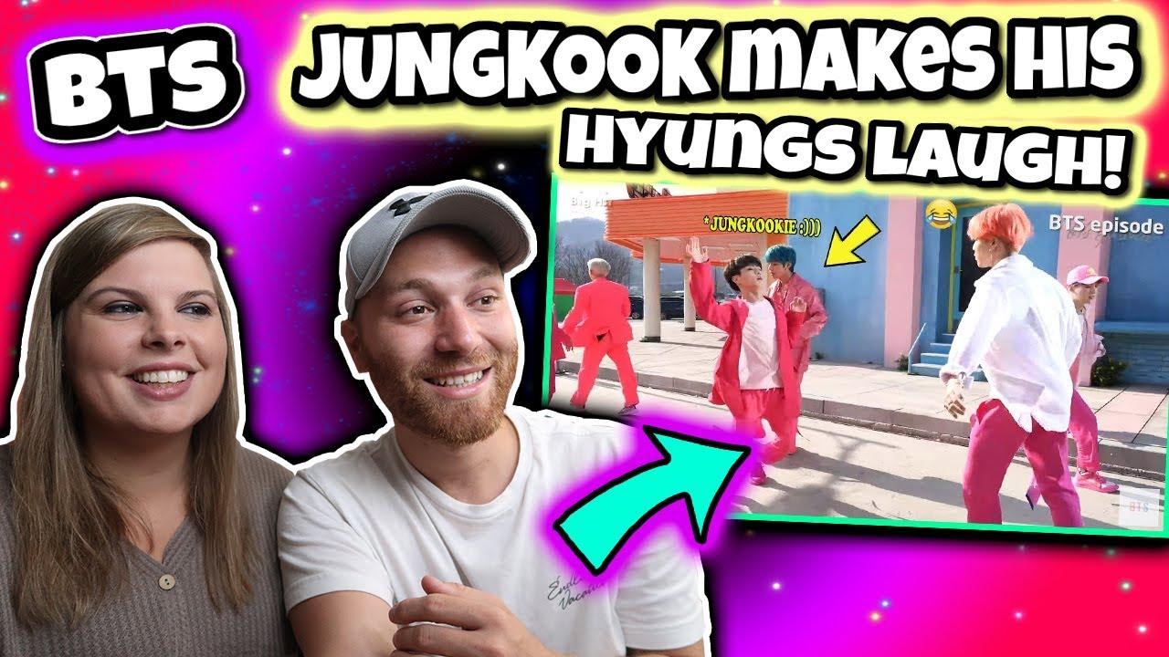 BTS JUNGKOOK makes his hyungs laugh! :))) Reaction