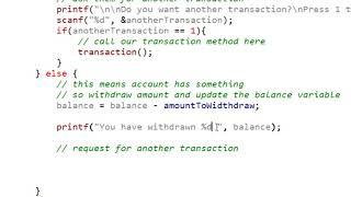 C PROGRAMLAMA Basit bir ATM MAKİNESİ oluşturma