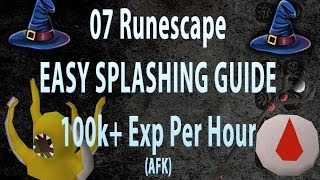 AFK Splashing Guide! 100K + Exp Per Hour (Fire Wave) . [Old School Runescape]