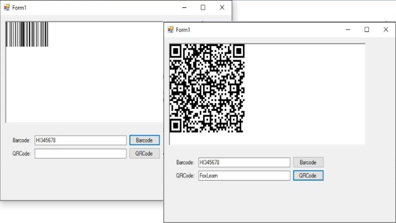 C# Tutorial - Generate Barcode & QR Code with 2 Lines of Code | FoxLearn