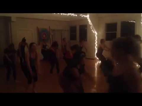 West African Dance Class.  Portland, Maine