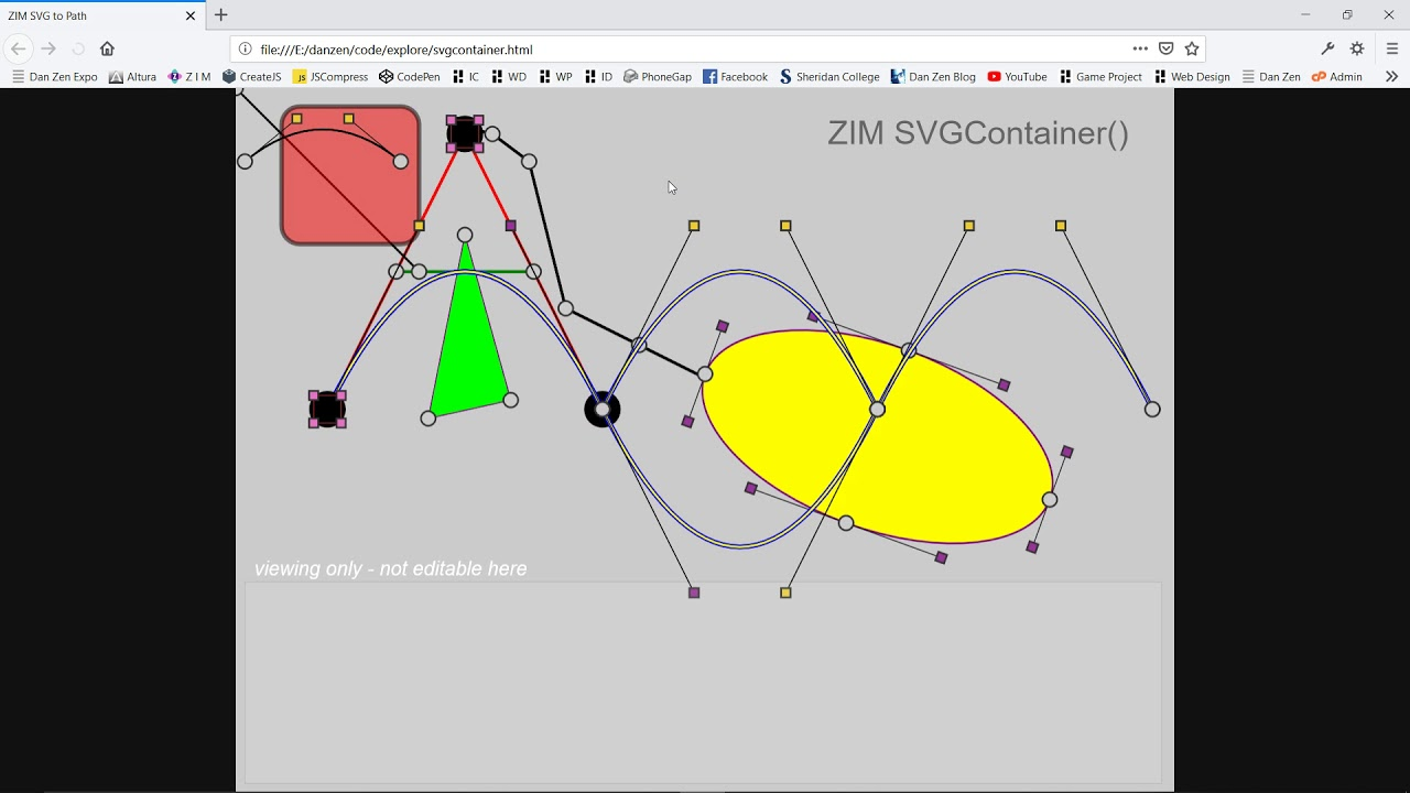 ZIM Docs - SVGContainer and SVG for #HTML #Canvas #JavaScript, #CreateJS,  #ZIMjs