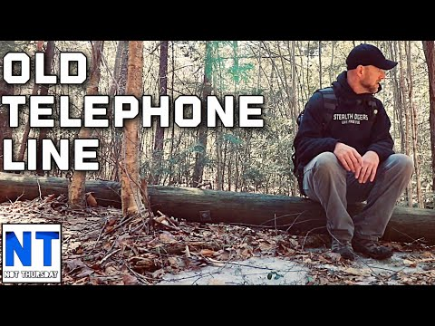Exploring the old lost Bell telephone line in the woods of NH